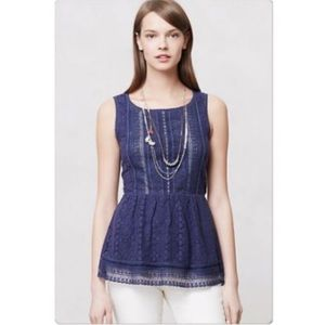 Anthropologie Tops - ⚡️One September Anthro Coraline Peplum Top
